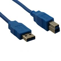 SuperSpeed USB 3.0 Blue Printer Cable 5m